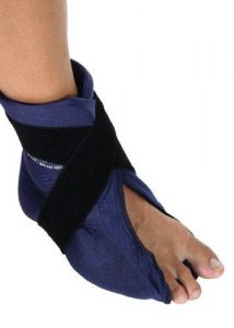 ankle sprain wrap cold press volleyball sports injury